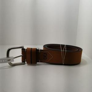 New CKJ calvin Klein Jeans lwather Tan color belt